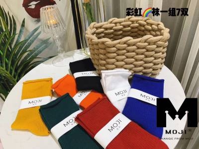 Moji彩虹袜堆袜